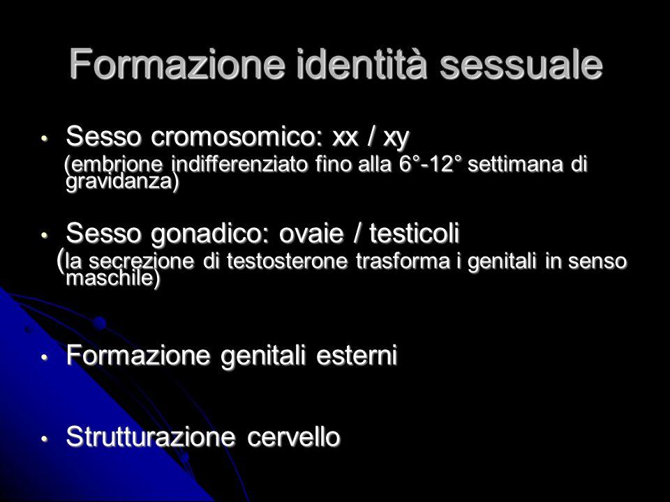 Formazione identità sessuale
