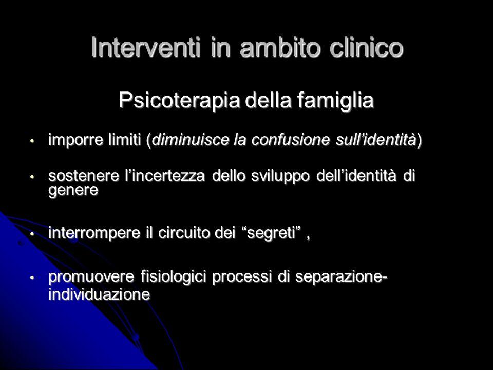 Interventi in ambito clinico