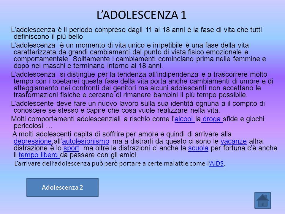 L'ADOLESCENZA 1