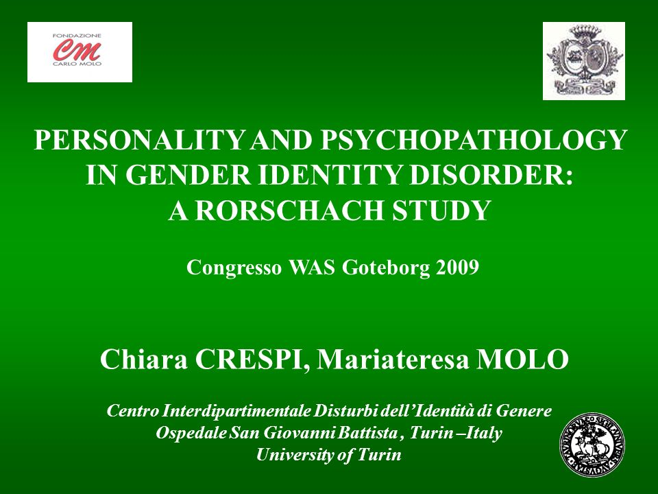 PERSONALITY AND PSYCHOPATHOLOGY IN GENDER IDENTITY DISORDER: