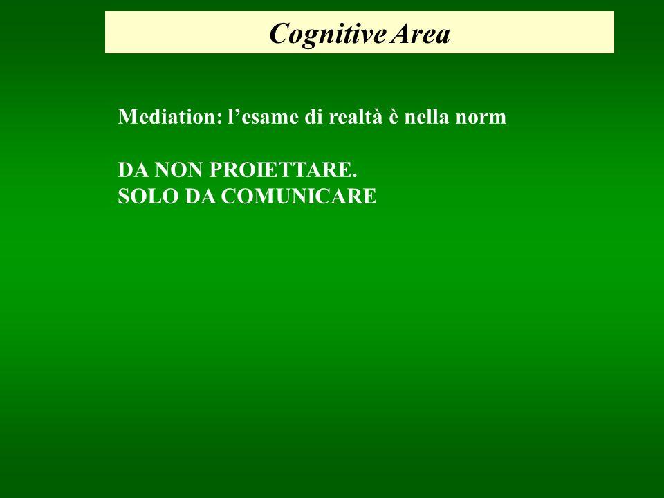 Cognitive Area Mediation: l'esame di realtà è nella norm