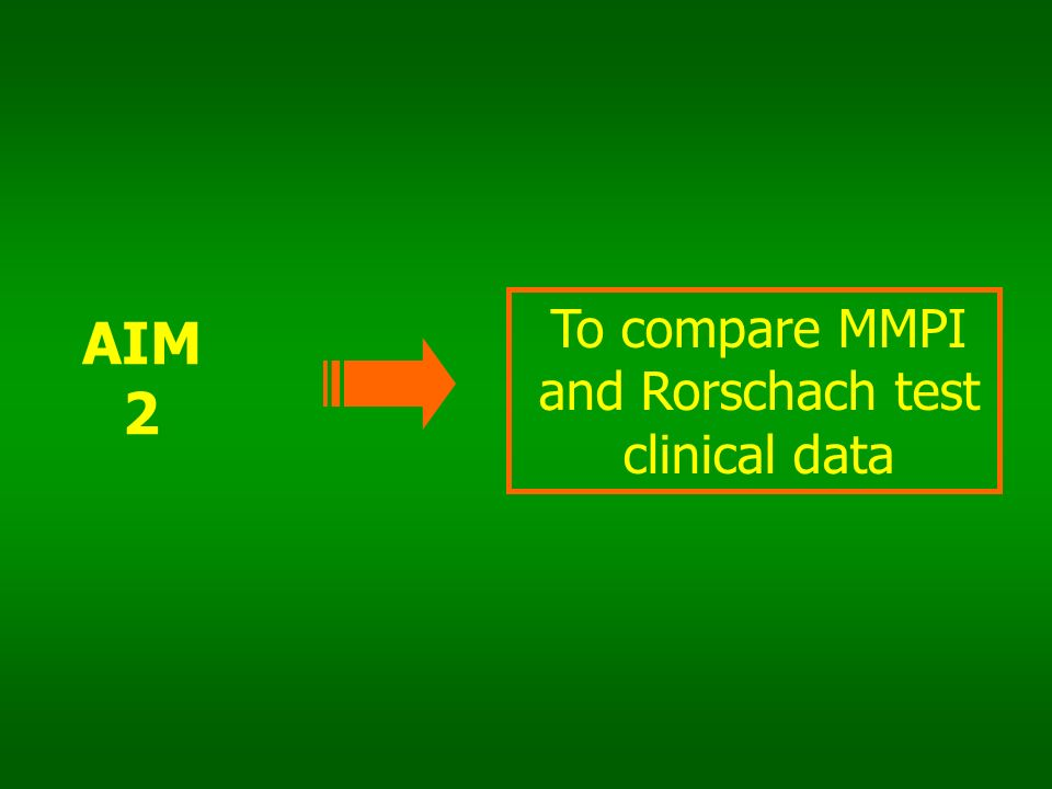To compare MMPI and Rorschach test clinical data