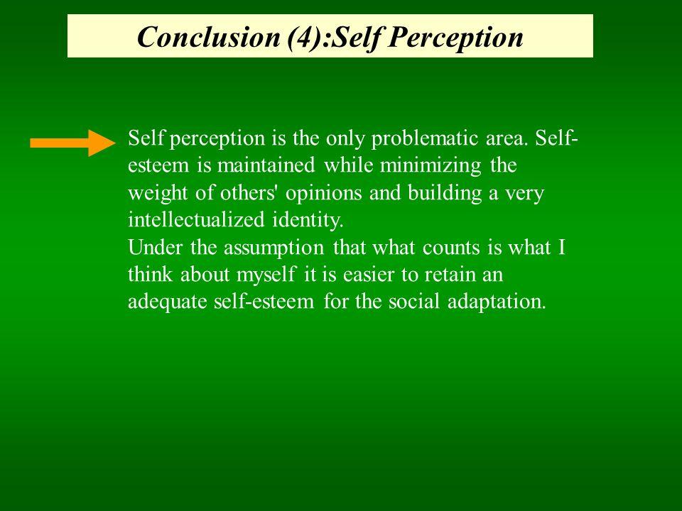 Conclusion (4):Self Perception