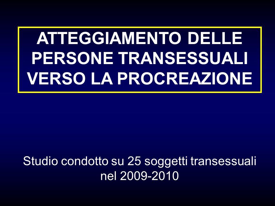 ATTEGGIAMENTO DELLE PERSONE TRANSESSUALI VERSO LA PROCREAZIONE