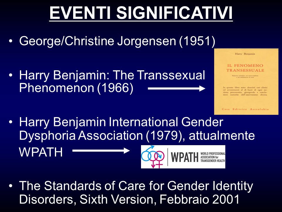 EVENTI SIGNIFICATIVI George/Christine Jorgensen (1951)‏