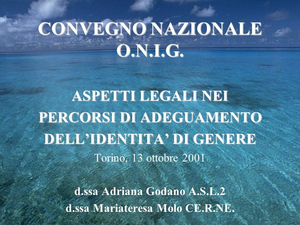 CONVEGNO NAZIONALE O.N.I.G.