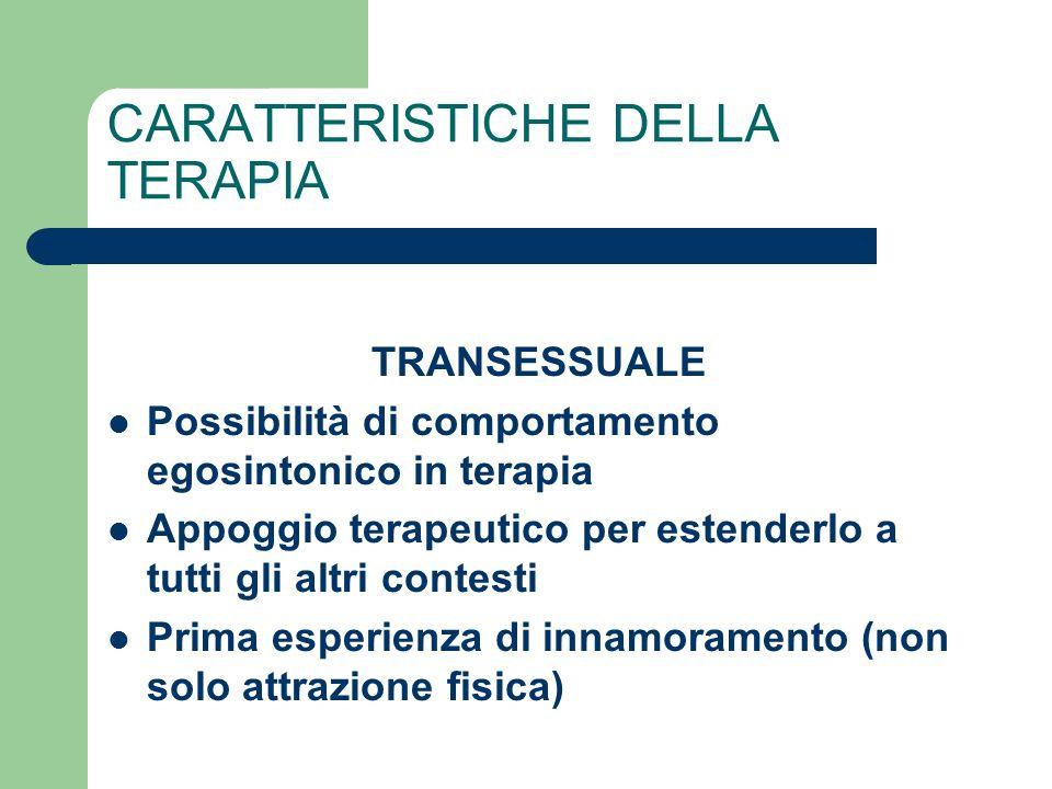 CARATTERISTICHE DELLA TERAPIA