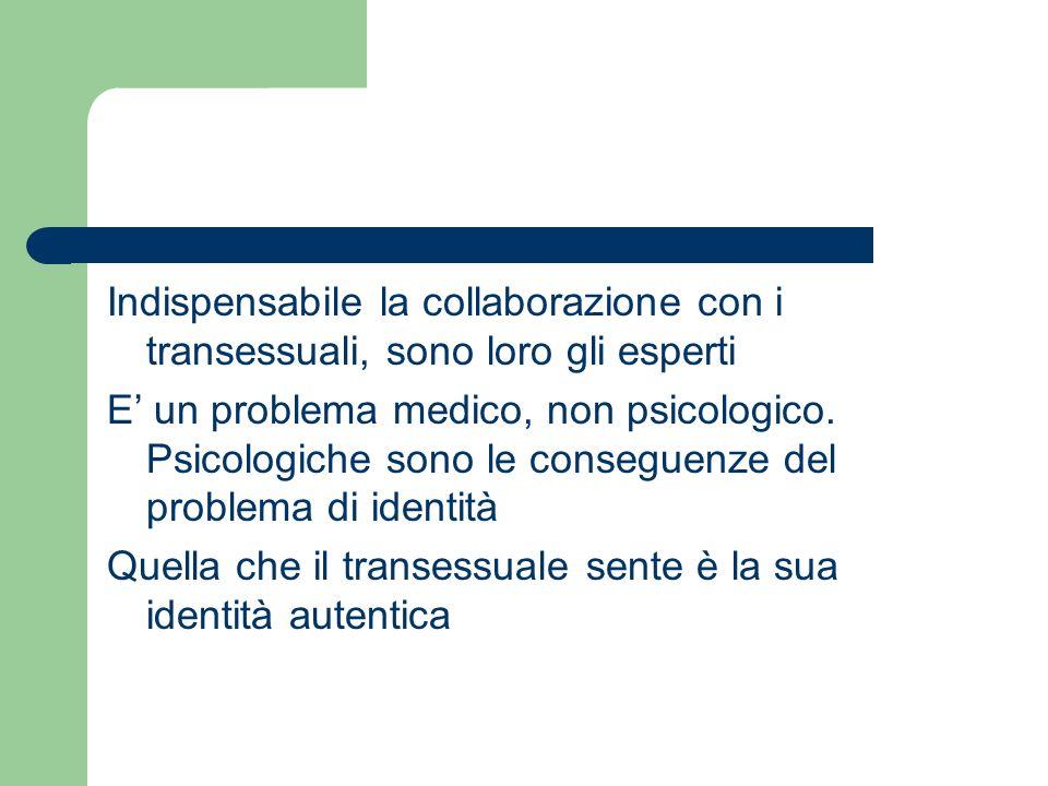 Indispensabile la collaborazione con i transessuali, sono loro gli esperti