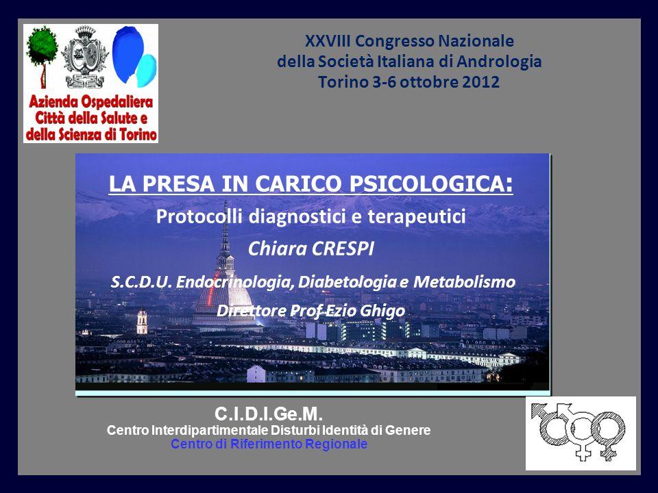 LA PRESA IN CARICO PSICOLOGICA: Protocolli diagnostici e terapeutici