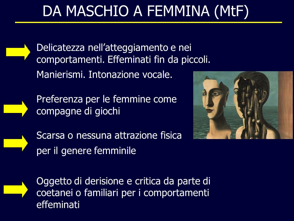 DA MASCHIO A FEMMINA (MtF)