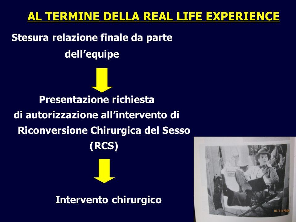 AL TERMINE DELLA REAL LIFE EXPERIENCE