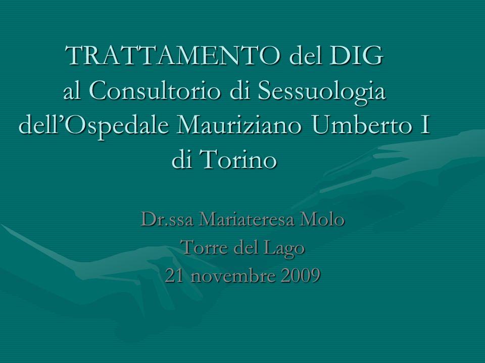 Dr.ssa Mariateresa Molo Torre del Lago 21 novembre 2009