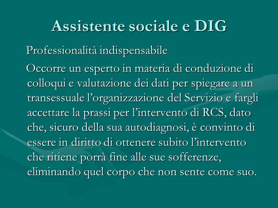 Assistente sociale e DIG