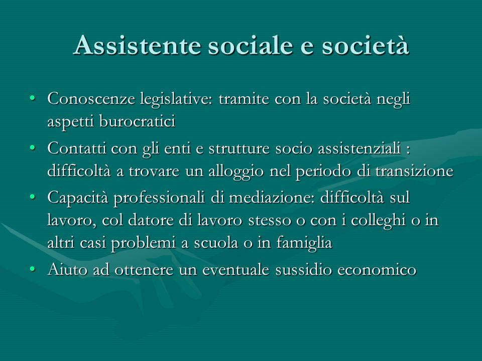Assistente sociale e società
