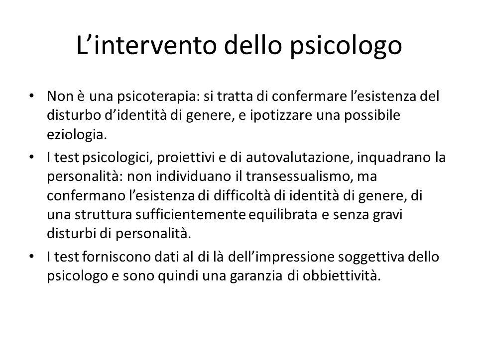 L'intervento dello psicologo