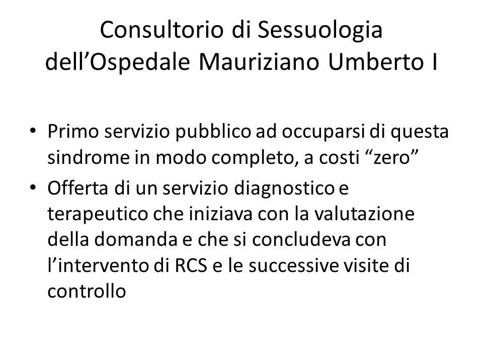 Consultorio di Sessuologia dell'Ospedale Mauriziano Umberto I