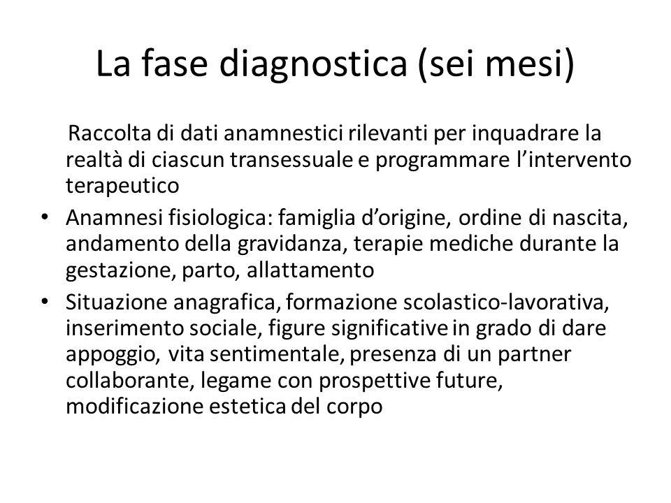 La fase diagnostica (sei mesi)
