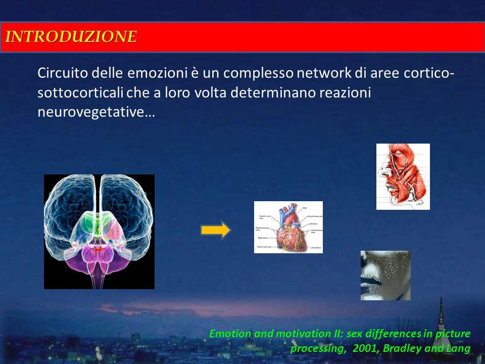 INTRODUZIONE Circuito delle emozioni è un complesso network di aree cortico-sottocorticali che a loro volta determinano reazioni neurovegetative…