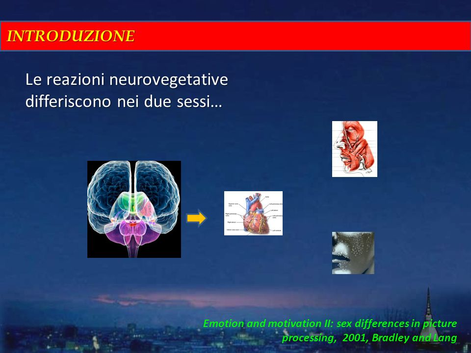 Le reazioni neurovegetative differiscono nei due sessi…