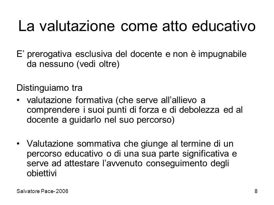 La valutazione come atto educativo