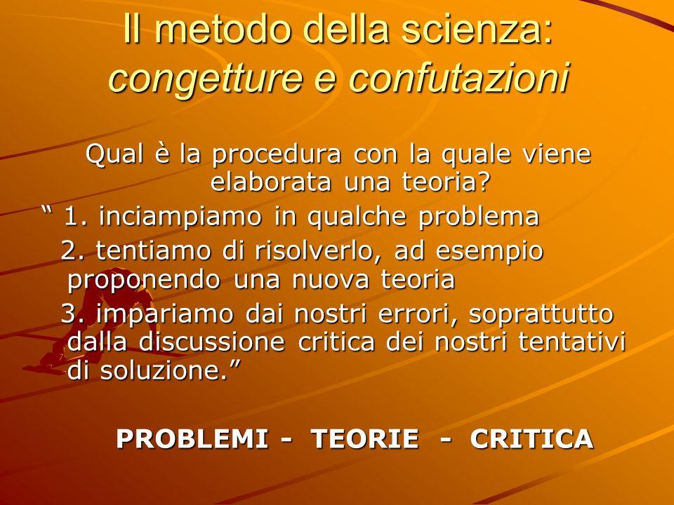 Il metodo della scienza: congetture e confutazioni