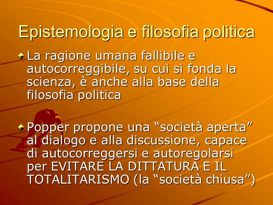 Epistemologia e filosofia politica