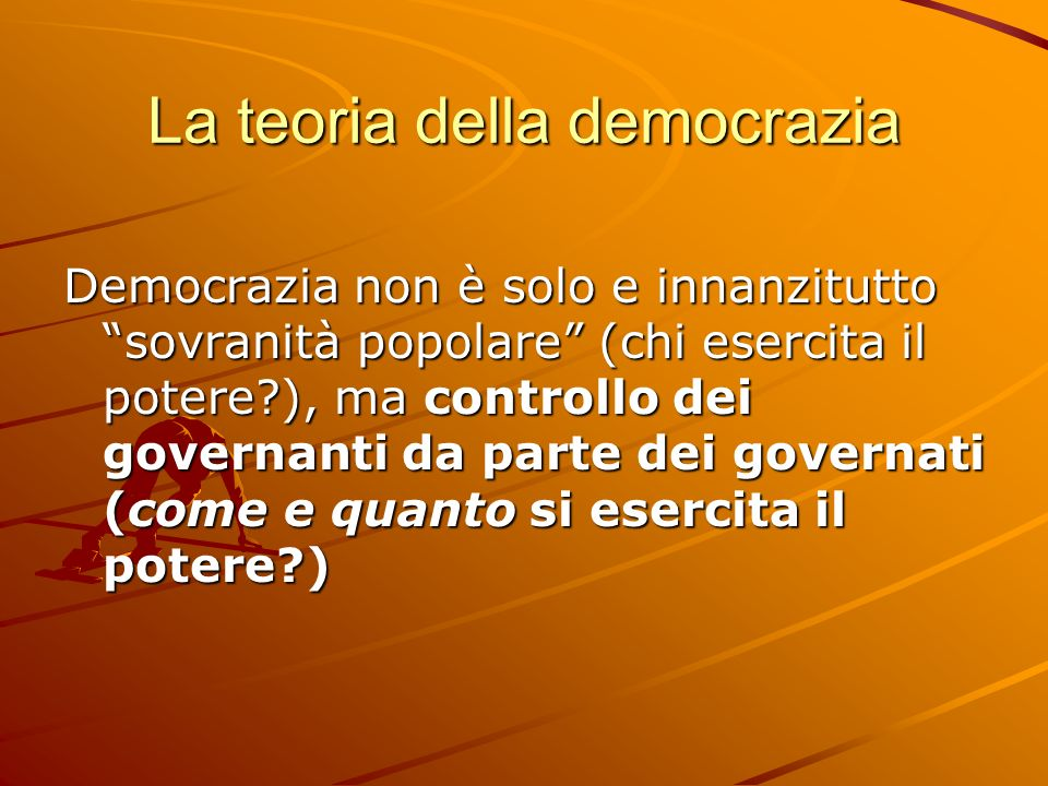 La teoria della democrazia