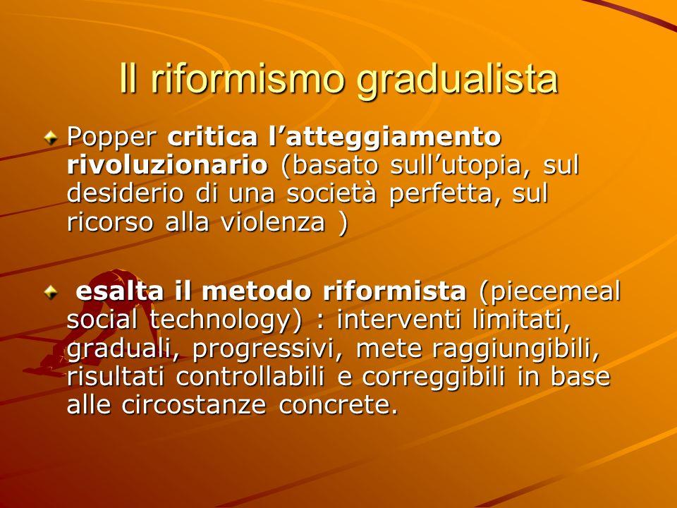 Il riformismo gradualista