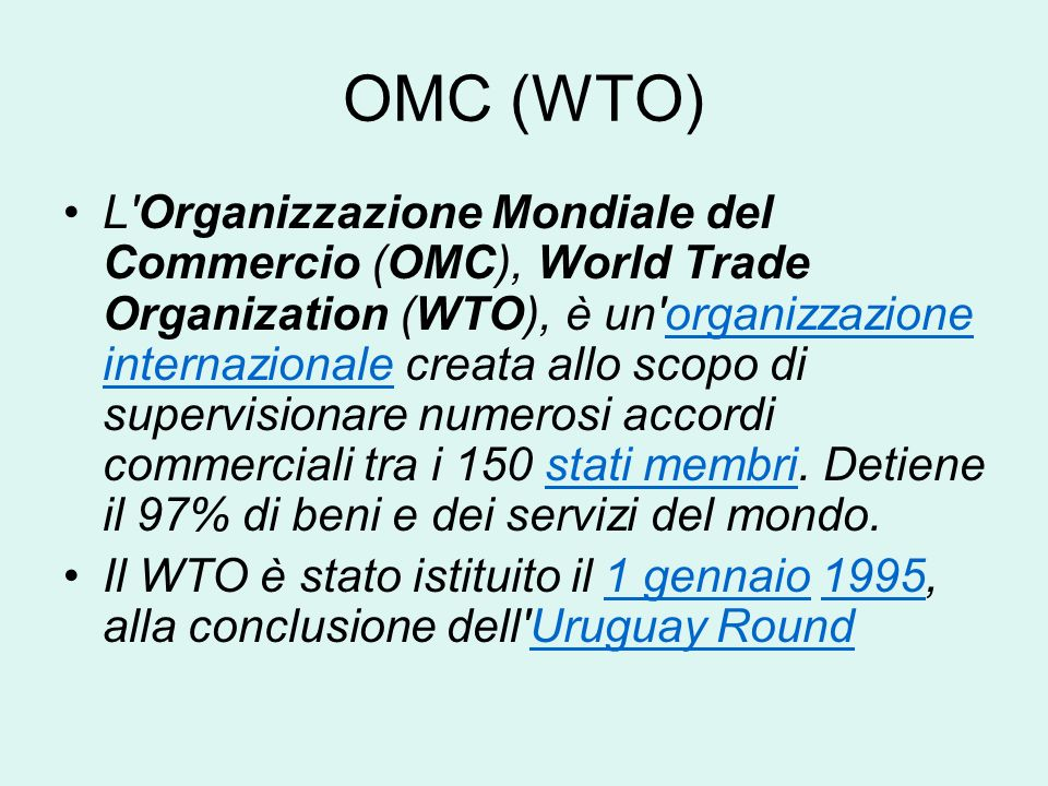 OMC (WTO)
