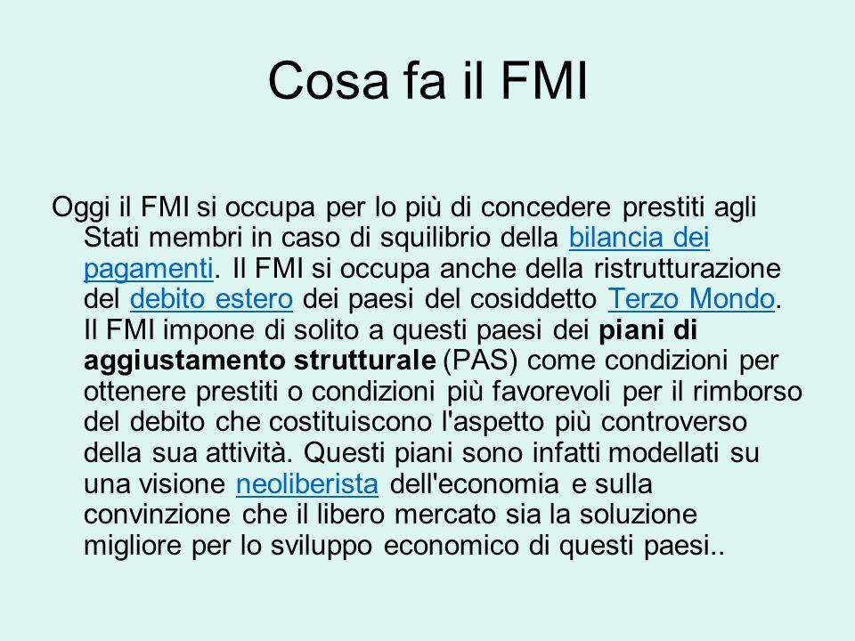 Cosa fa il FMI