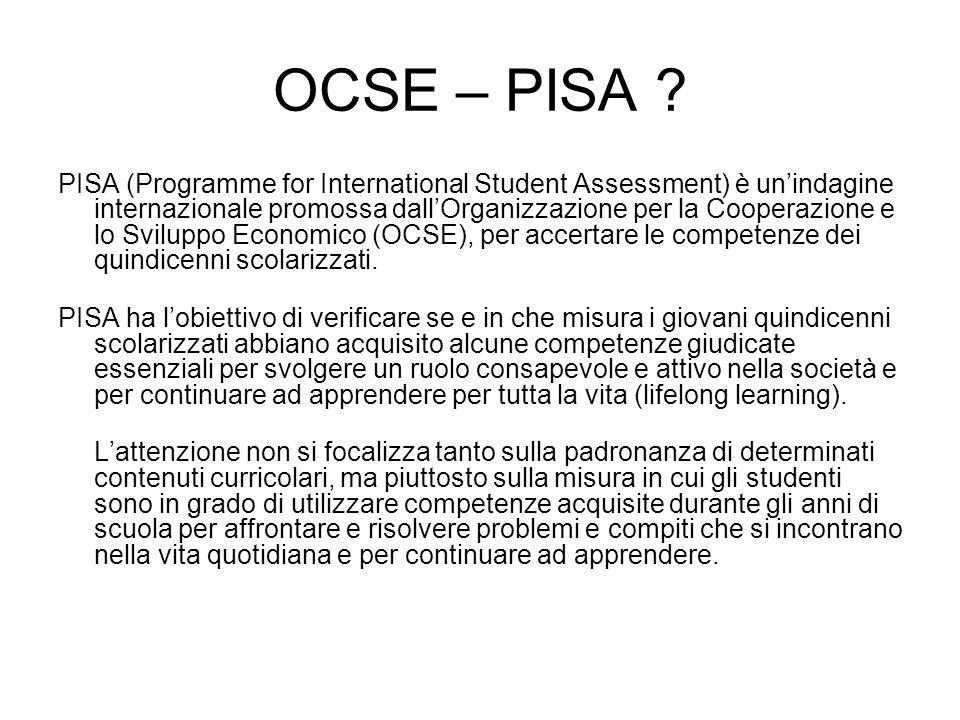 OCSE – PISA