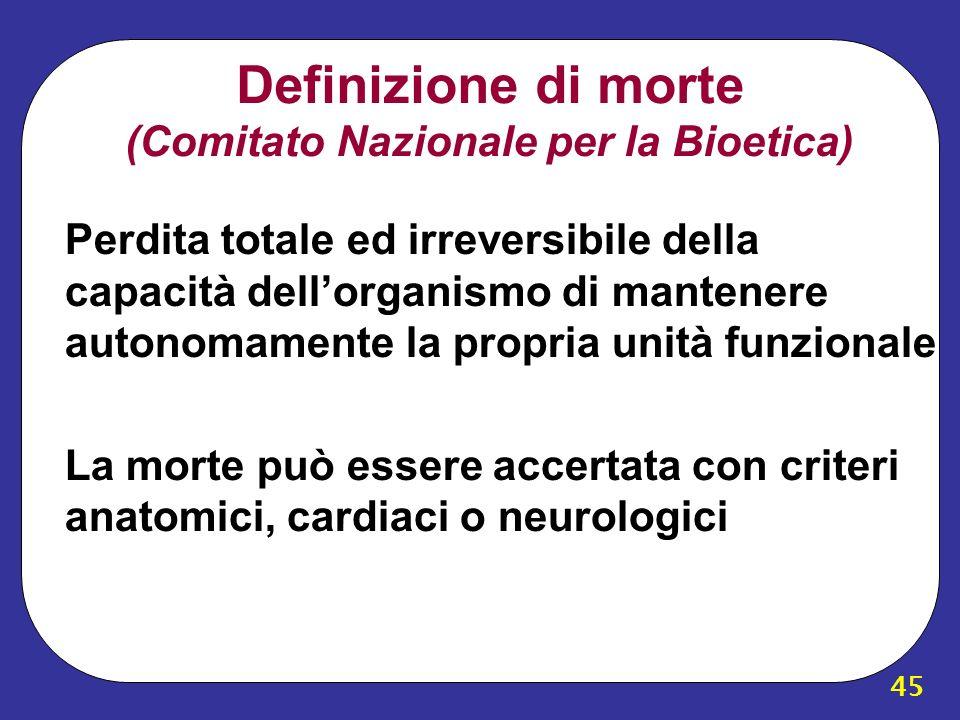 Definizione di morte (Comitato Nazionale per la Bioetica)