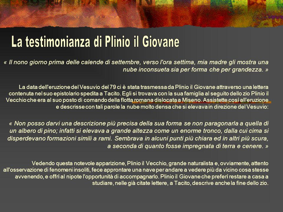 La testimonianza di Plinio il Giovane