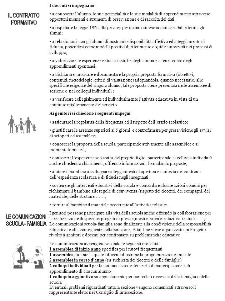 IL CONTRATTO FORMATIVO LE COMUNICAZIONI SCUOLA - FAMIGLIA