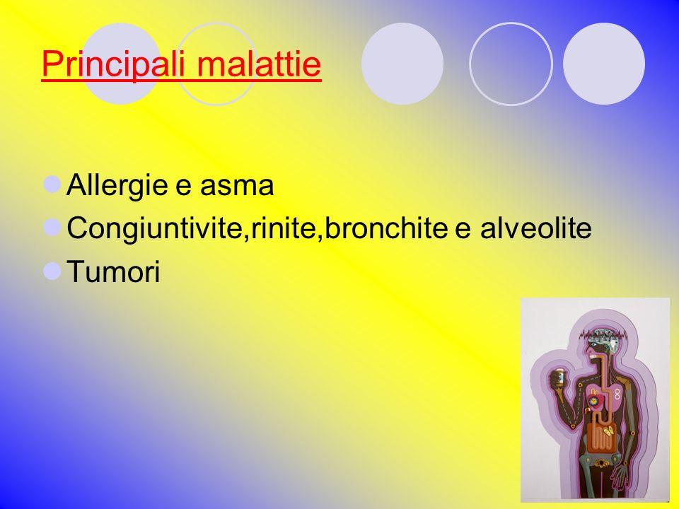 Principali malattie Allergie e asma