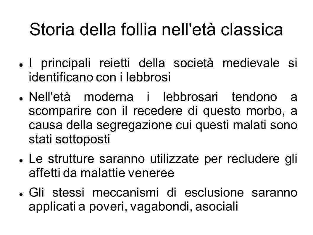 Storia della follia nell età classica