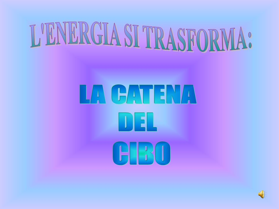 L ENERGIA SI TRASFORMA: