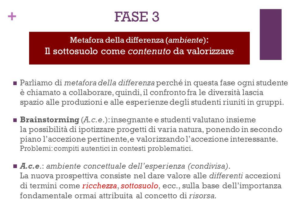 FASE 3 Il sottosuolo come contenuto da valorizzare Il