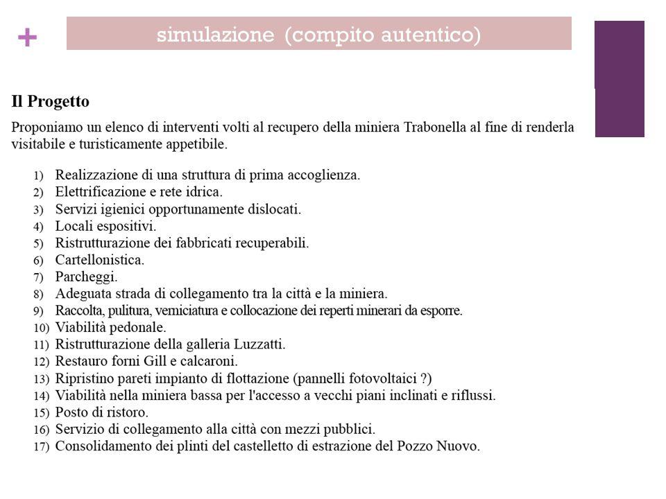 simulazione (compito autentico)