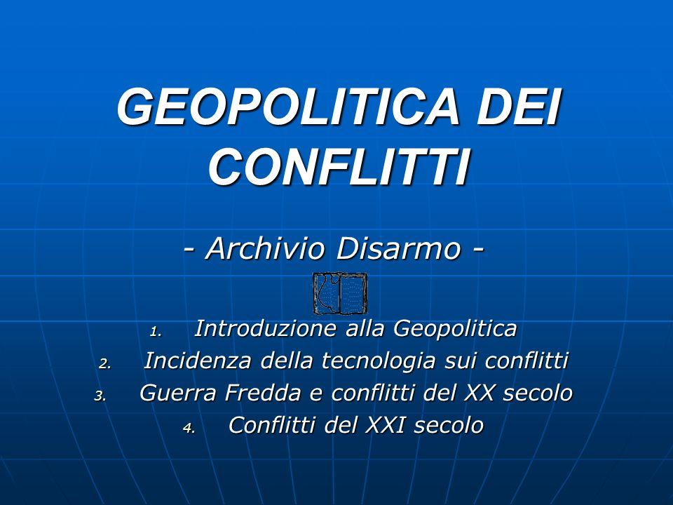 GEOPOLITICA DEI CONFLITTI