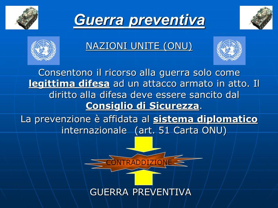 Guerra preventiva GUERRA PREVENTIVA NAZIONI UNITE (ONU)