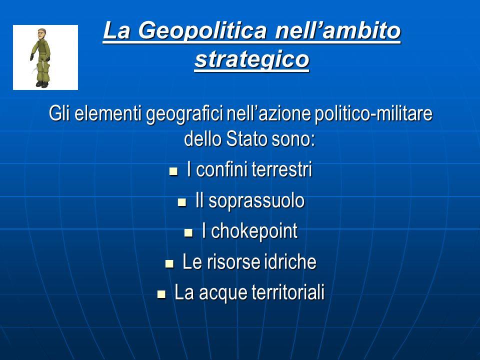 La Geopolitica nell'ambito strategico
