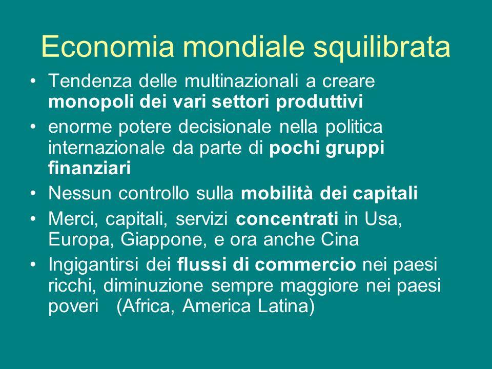 Economia mondiale squilibrata