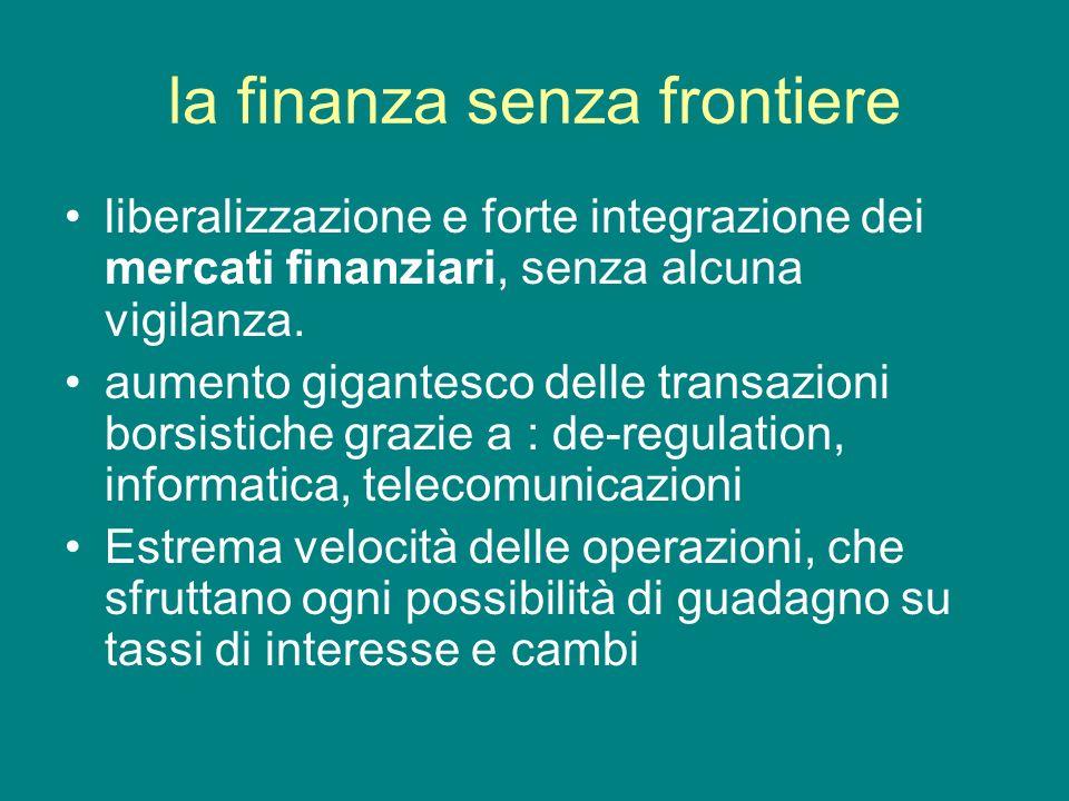 la finanza senza frontiere
