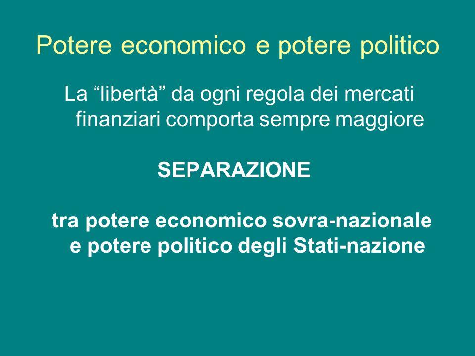 Potere economico e potere politico