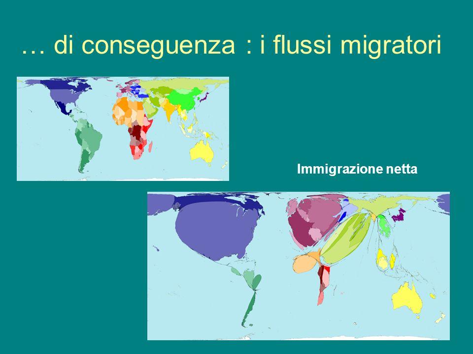 … di conseguenza : i flussi migratori