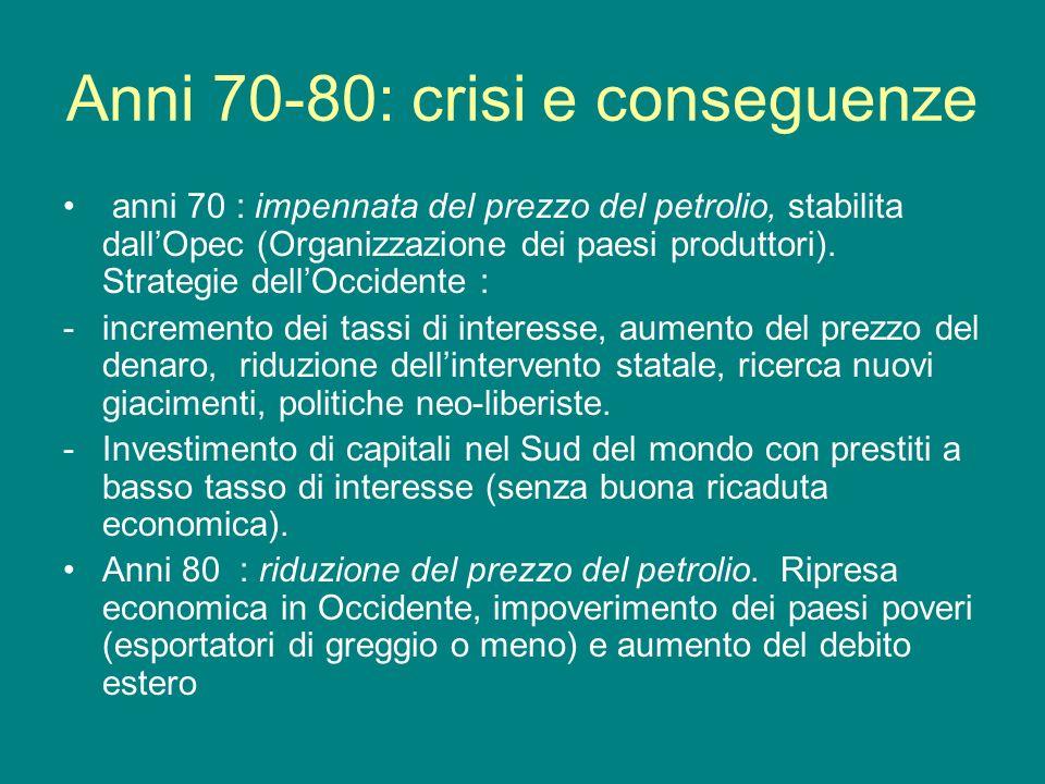 Anni 70-80: crisi e conseguenze