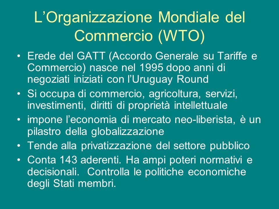 L'Organizzazione Mondiale del Commercio (WTO)