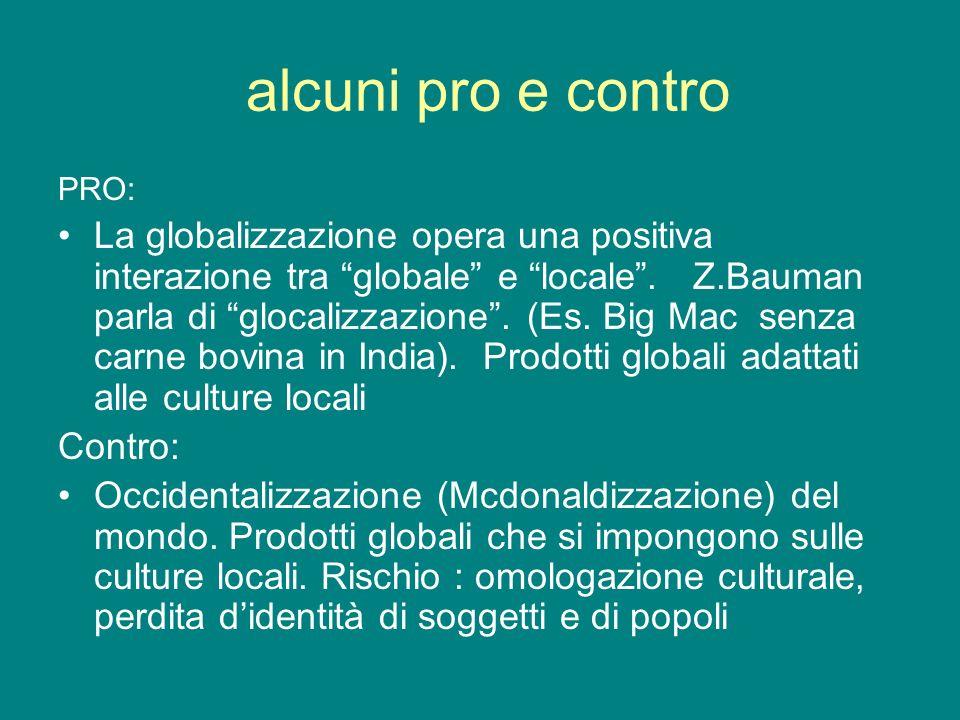 alcuni pro e contro PRO: