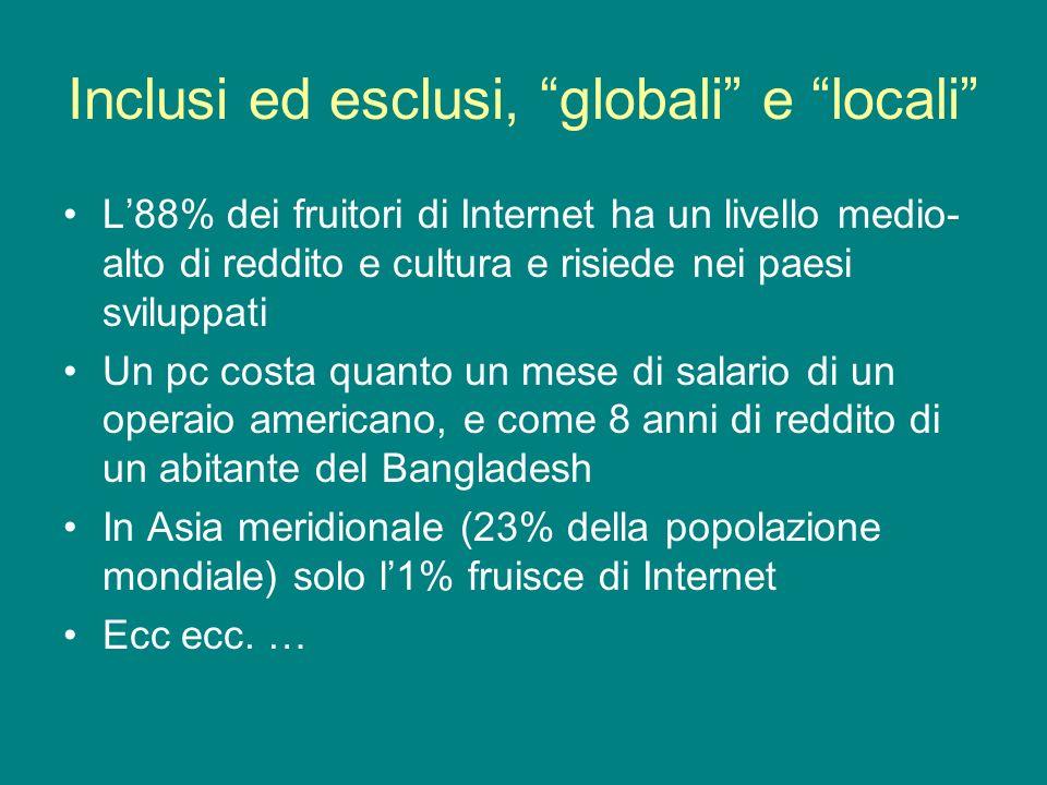 Inclusi ed esclusi, globali e locali